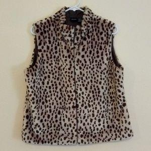 Xhilaration Faux Fur Vest Size XL